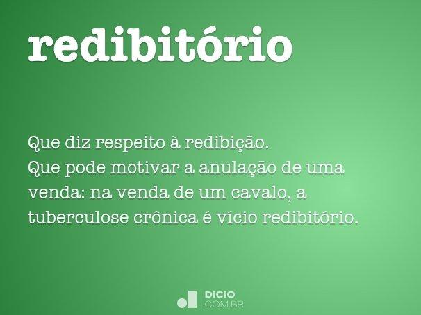 redibit�rio