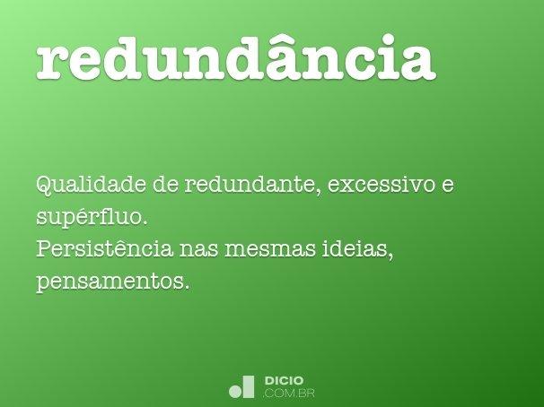 redund�ncia