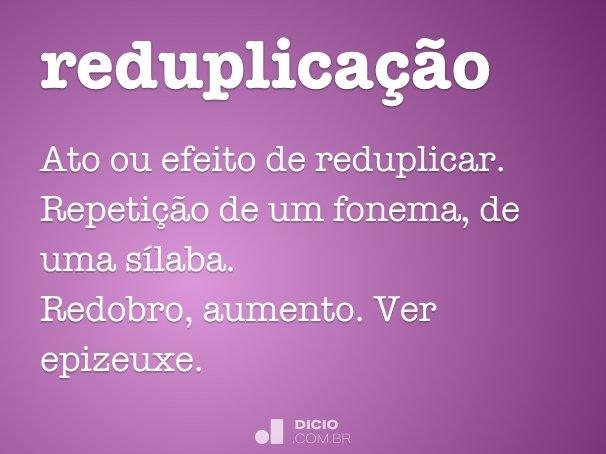 reduplica��o