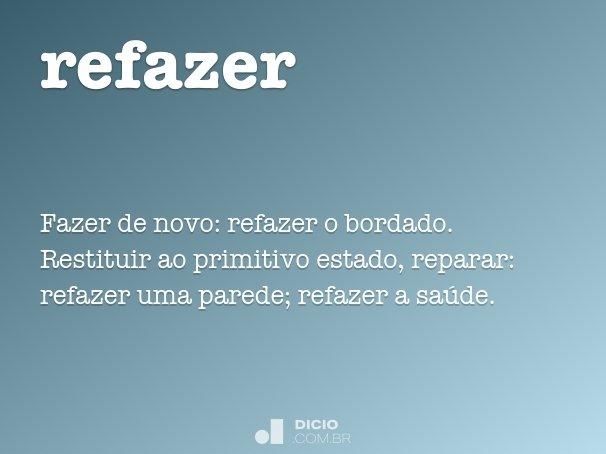 refazer
