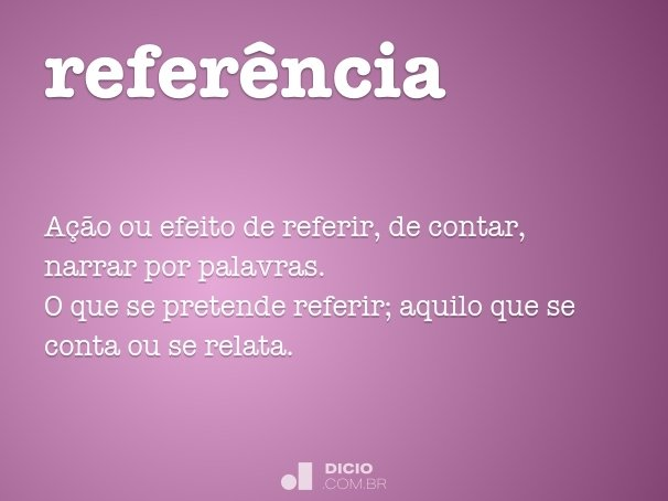 refer�ncia
