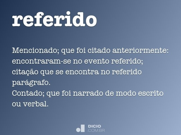 referido