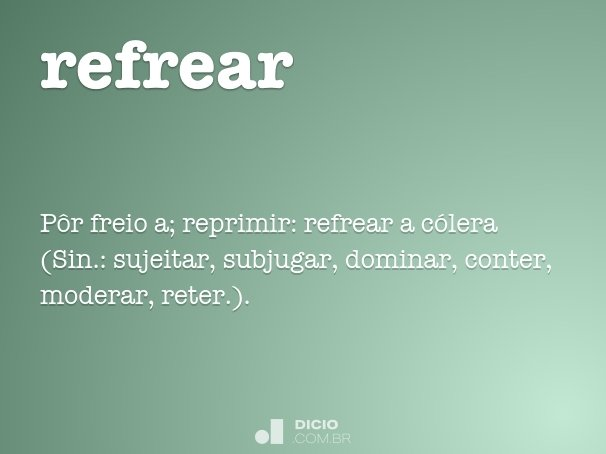 refrear