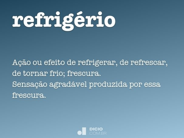 refrig�rio