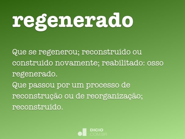 regenerado