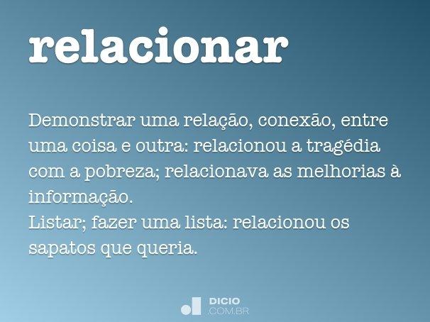 relacionar
