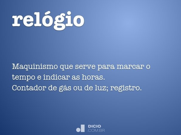 rel�gio