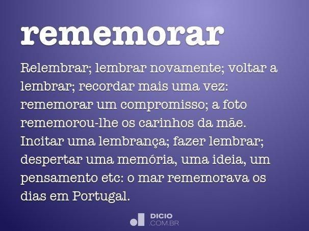 rememorar