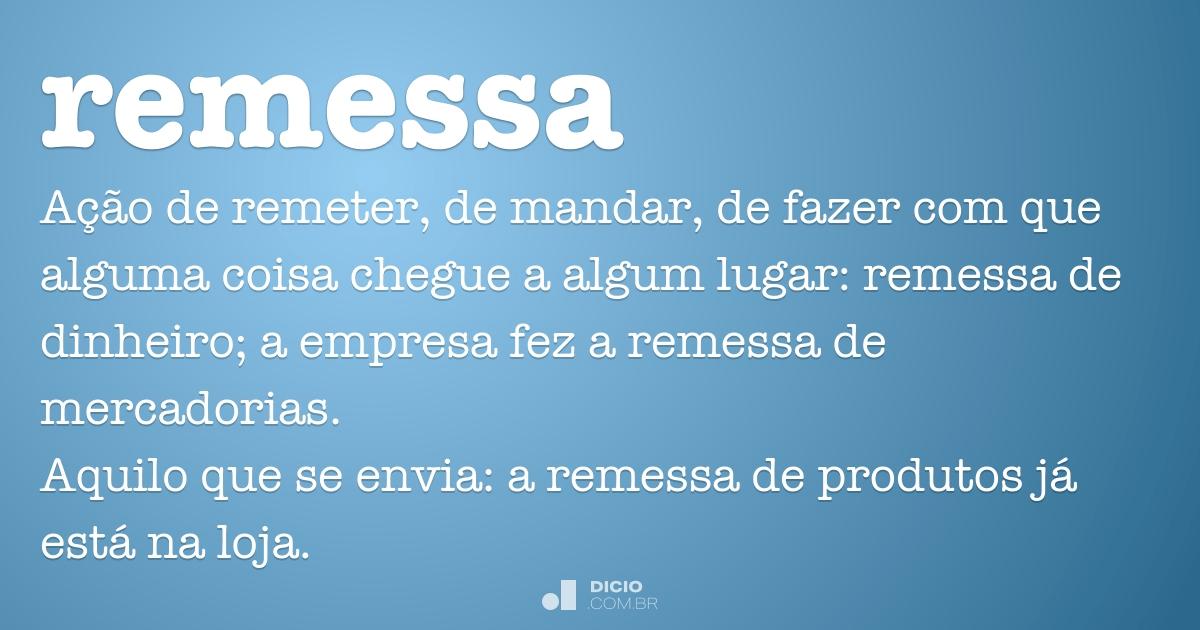 Remessa dicio dicion rio online de portugu s Remessa de dinheiro para o exterior