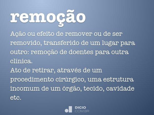 remo��o