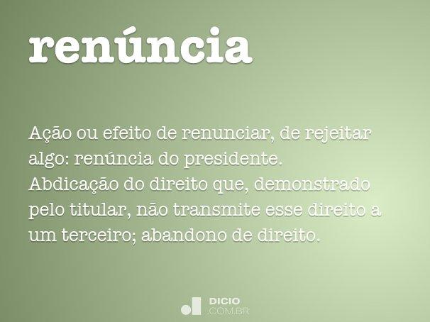 ren�ncia