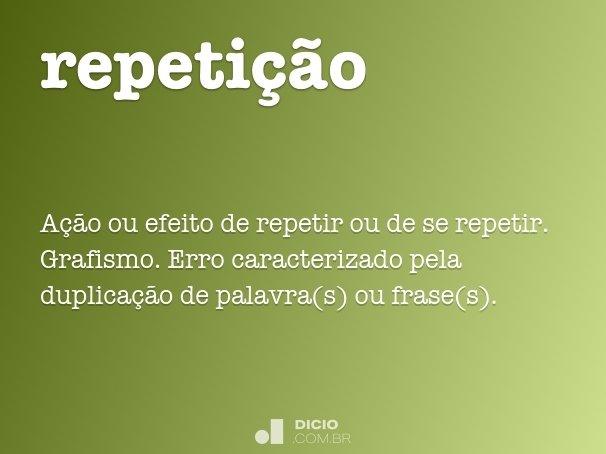 repeti��o