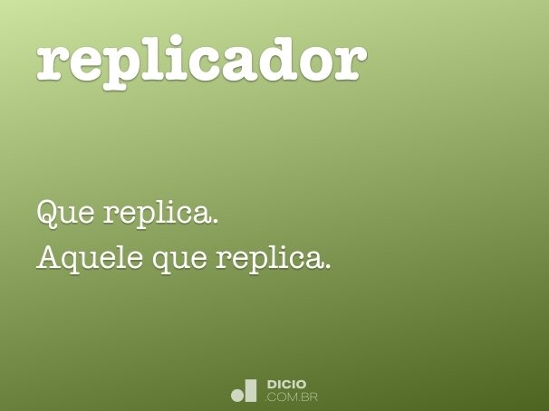 replicador