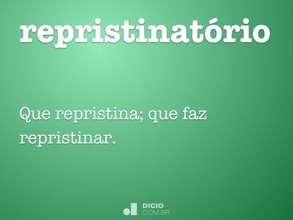 repristinatório