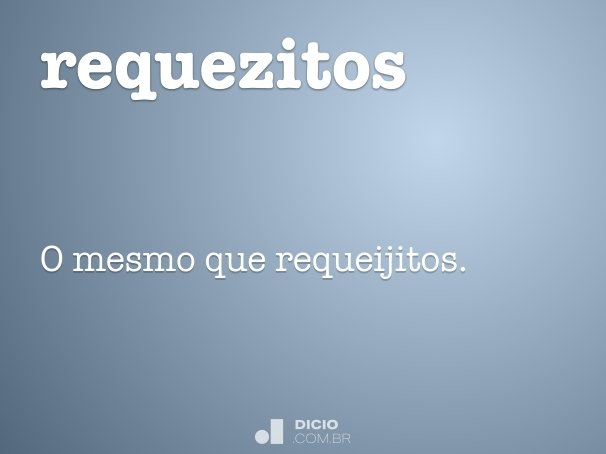 requezitos