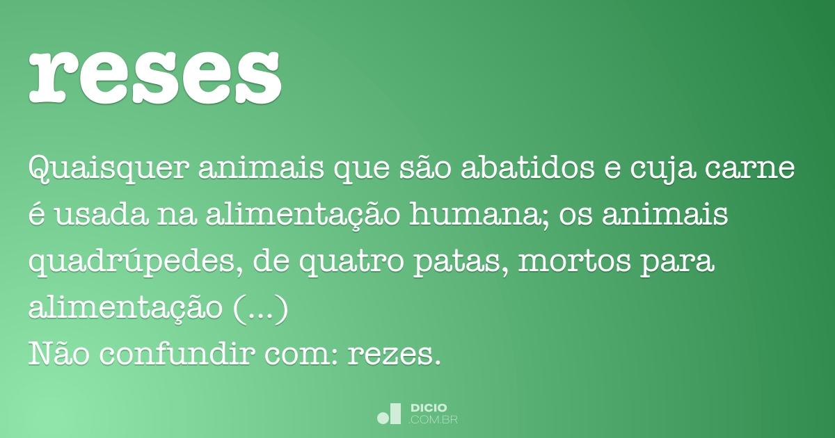 reses dicio dicionário online de português