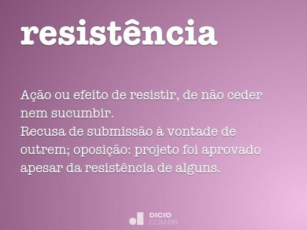 resist�ncia