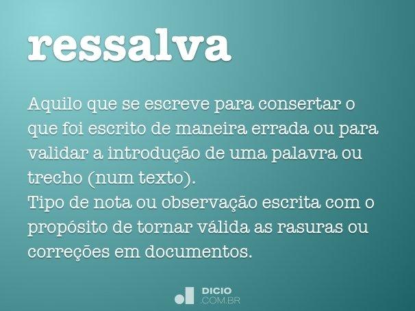 ressalva
