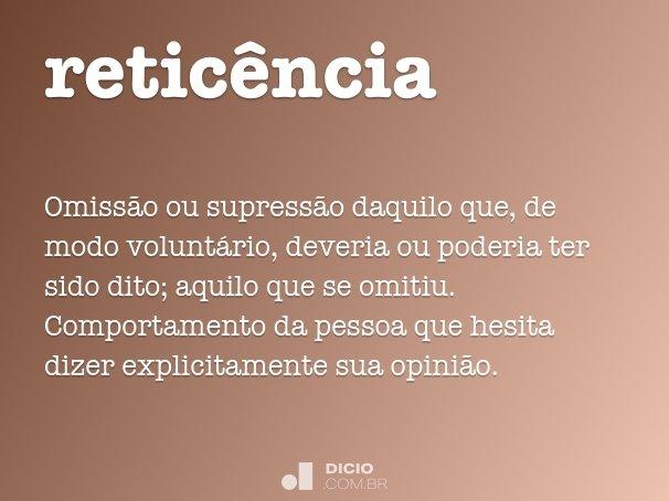 retic�ncia