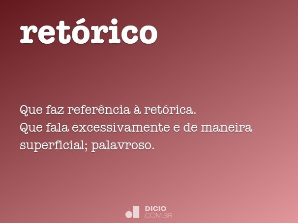 ret�rico