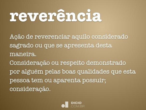 reverência