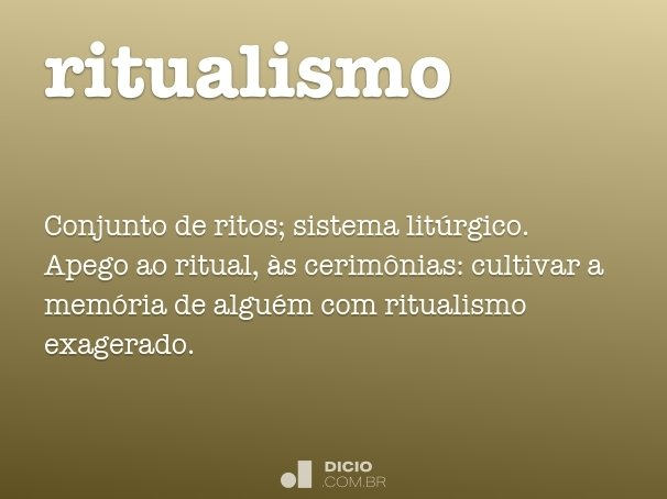 ritualismo