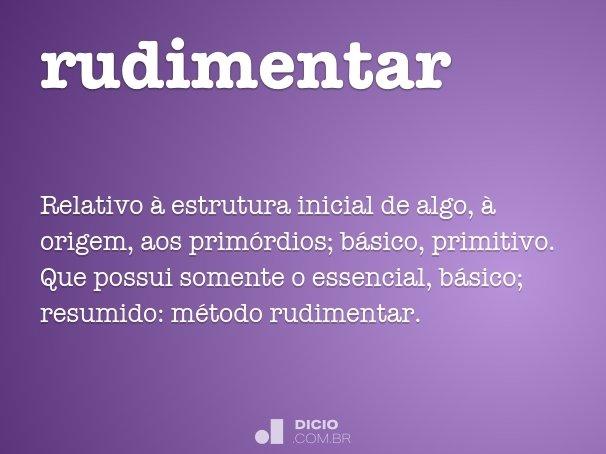 rudimentar
