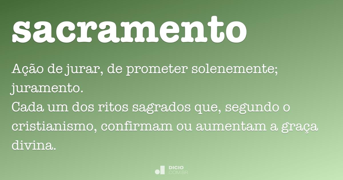 Juramento De Matrimonio Catolico : Sacramento dicio dicionário online de português