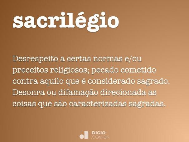 sacril�gio