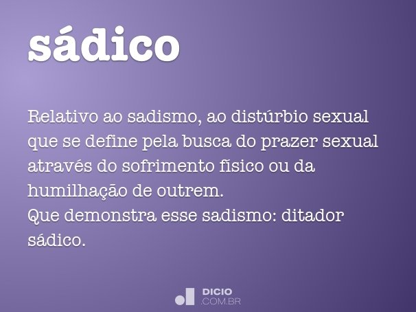 sádico
