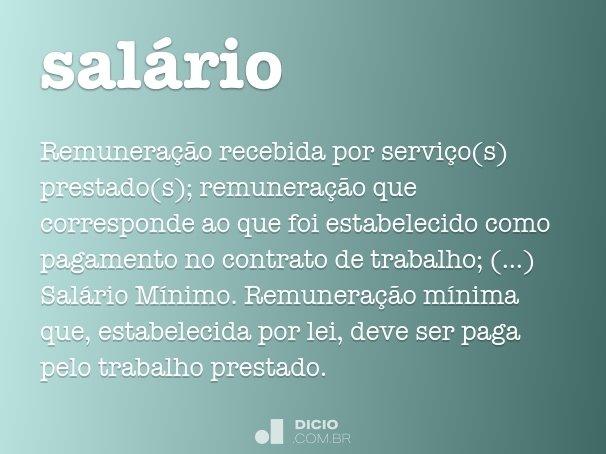 sal�rio
