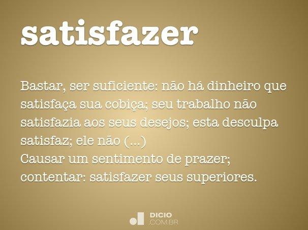satisfazer