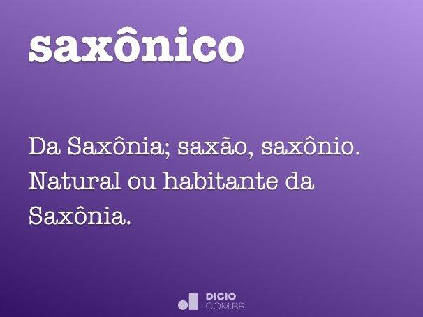 saxônico