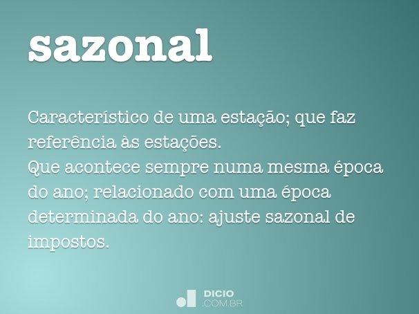 sazonal