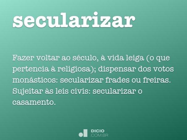 secularizar