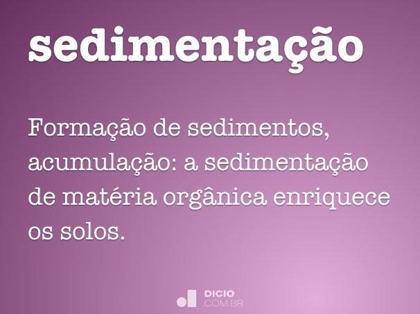 sedimenta��o