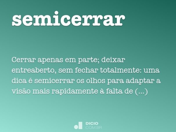 semicerrar