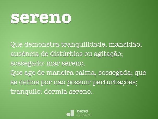 sereno