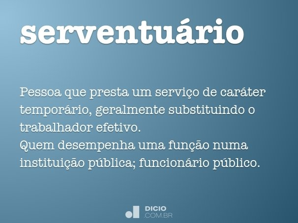 serventu�rio