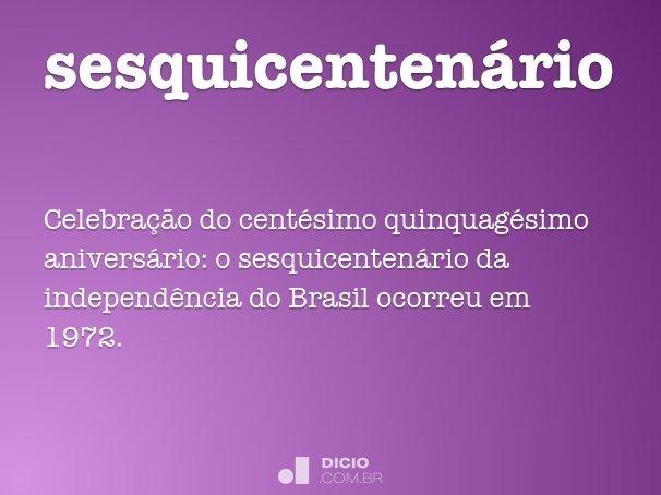 sesquicenten�rio