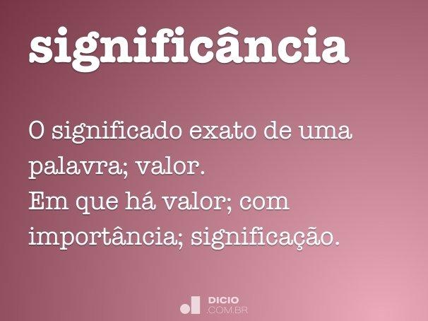 signific�ncia