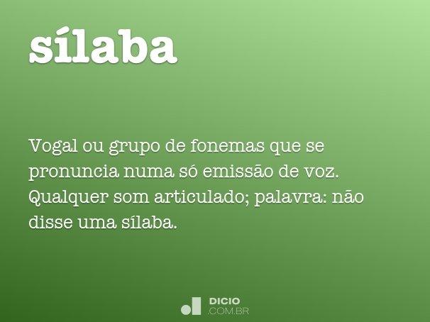 sílaba