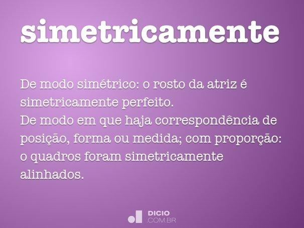 simetricamente