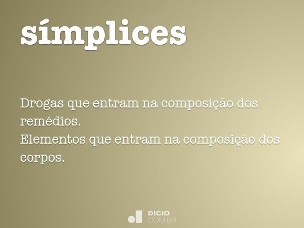 s�mplices