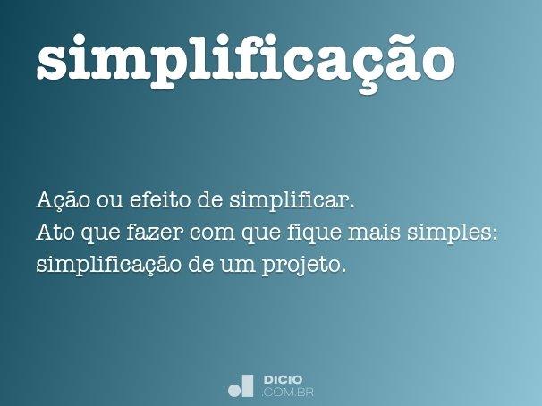 simplifica��o