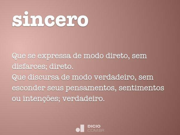 sincero