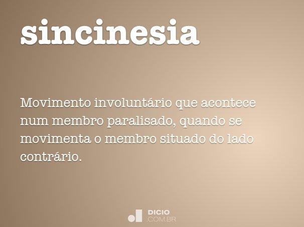 Sincinesia Dicio Dicionario Online De Portugues