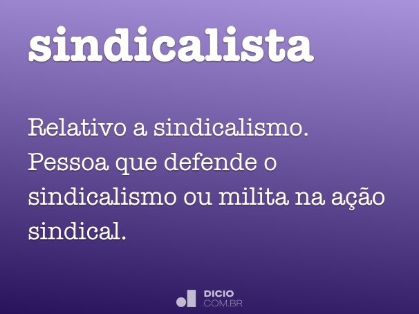sindicalista