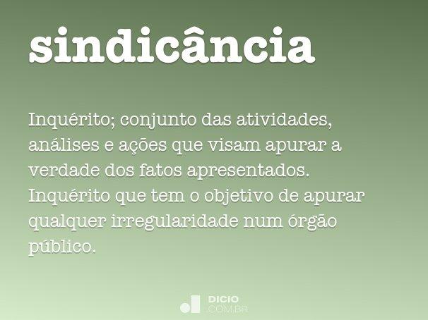 sindic�ncia