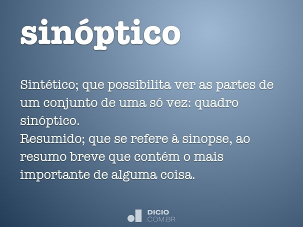 sin�ptico